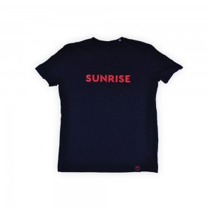 Męski t-shirt v-neck Shawn Sunrise V3 - czarny