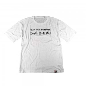 Męski t-shirt Organic plan for Sunrise - biała