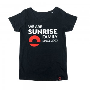 Damski t-shirt Inspire We are family - czarny