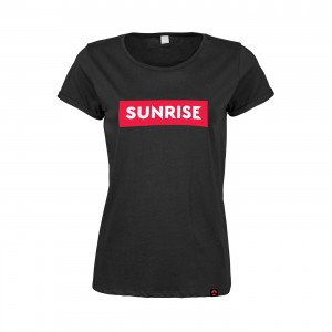 Damski t-shirt Roll-Up Sunrise - czarna